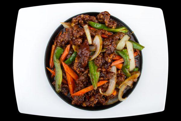 gan bian beef the wok